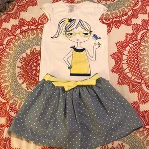 Gymboree Skirt and Top Bundle